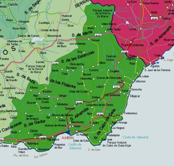 Index Of Maps Of Spain Andalucia