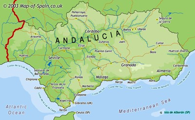 Map of Andalucia (Andalusia)
