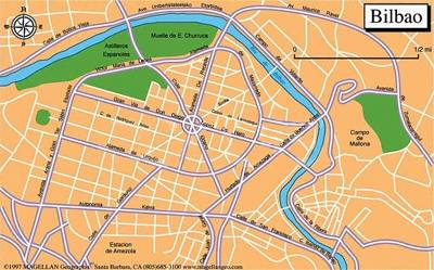 Bilbao Spain Map a Large Map of Bilbao This
