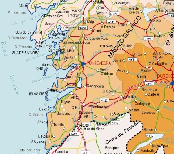 Map Of Spain La Coruna.Index Of Maps Of Spain Galacia