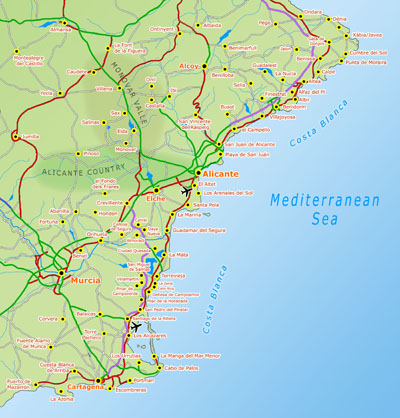 Map of Valencian Community maps Communidad Valencian map