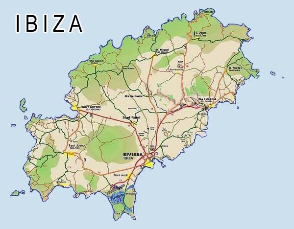 ibiza karta IBIZA SPAIN MAP   Imsa Kolese ibiza karta