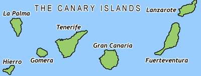 Map of the Canary Islands maps Canarias map Canary Islands Map on