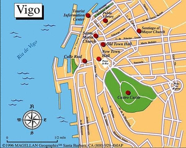 espanha vigo mapa Vigo map espanha vigo mapa