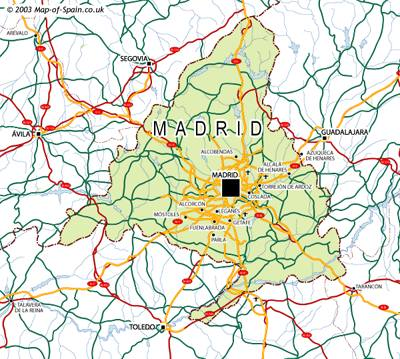 Map Of Spain With Madrid.Map Of Madrid Maps